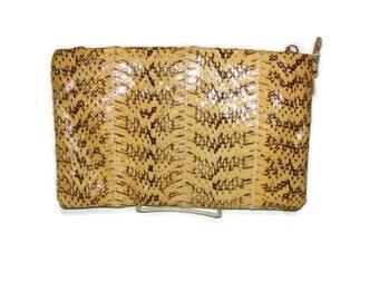 Vintage Yellow and Brown Snake Print Shoulder Bag Shoulder Bags For Women Snake Print Shoulder Bag Vintage Purses and Handbags Shoulder Bag