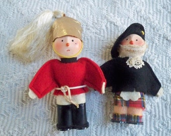 Vintage Collectible Dolls Two Great Britain Collectible Royal Horse Guard