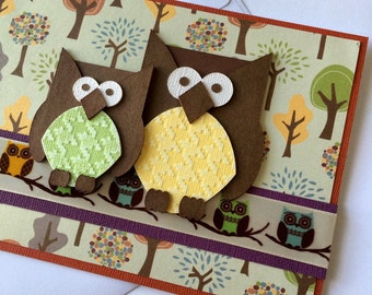 Mother's Day Card With Owls