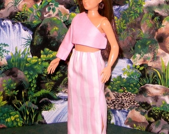 LMLY-200) Lammily doll clothes, 1 long skirt with top