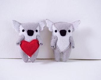 Koala Felt Ornament Sewing Pattern * Sew Your Own Koala Feltie * Adorable  Stuffed Koala PDF Pattern