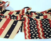 Pennant Banner - Bunting Banner - Americana - Red - White - Blue - Veterans Day - Fourth of July - Memorial Day - Patriotic - American Flag