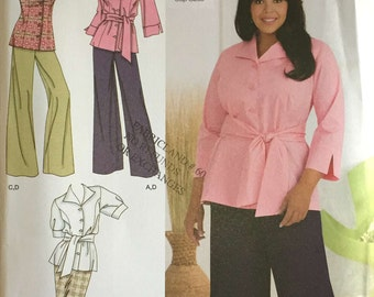 Simplicity 2636 Sewing Pattern, 18-24 Khaliah Ali Collection, Ladies Jacket, Top, Pants and Skirt