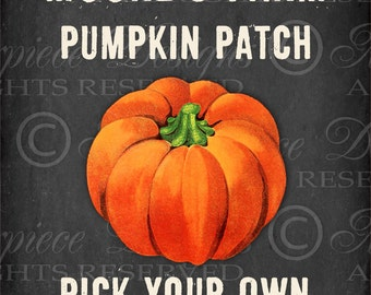 Pumpkin Patch / Chalkboard Print / Autumn / Fall / Thanksgiving - 8x10 Inch Digital Print / Printable / Download and Print / Digital Sheet