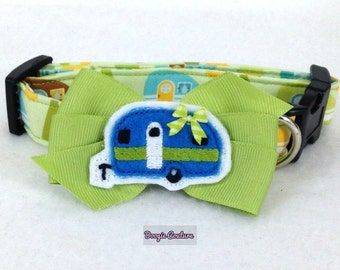 Home Is Where We Park It Camper Dog Collar Size XS through Large by Doogie Couture Pet Boutique