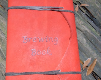 Handmade Leather Beer Brewing Journal with FREE Personalization