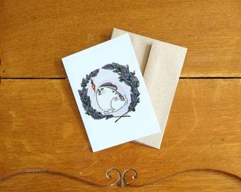 Card/Carte Hungry bunny