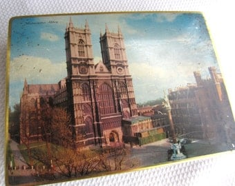Vintage Westminster Abbey Tin Made in England M. A. Craven & son