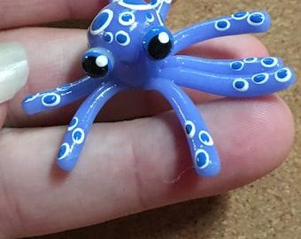 Dark blue baby octopus