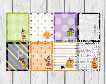8 Halloween Planner Stickers Scrapbook Stickers eclp  PS135 Fits Erin Condren Planners