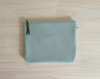 Mint Clutch, Fold Over Vegan Clutch in Mint, Minimalist Clutch