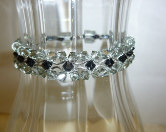 Swarovski Crystals Handmade Bracelet Art Deco Style