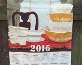 2016 Calendar Towel - An Ode to Pyrex