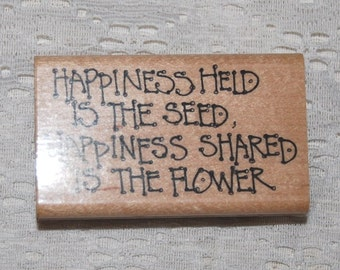 Inspirational quote Rubber Stamp - used