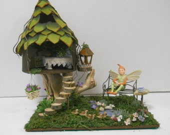 Fairy House for OOAK or Other Collectible Fairies, Art Dolls, Miniatures, Doll House