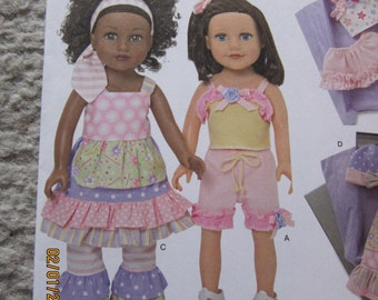 """2 American Girl doll New SIMPLICITY Clothes patterns 1296 & 1297 OS 18"""" Dolls"""
