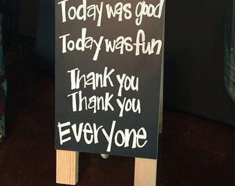 Mini chalkboard sign