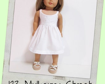 "AG Doll Clothes,18"" Doll Clothes-Beautiful Crisp White Sundress with a touch of laces fits 18"" dolls like American Girl, Maplelea"