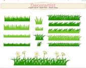 ON SALE grass clip art, grass border clip art , card making, border clip art , INSTANT Download