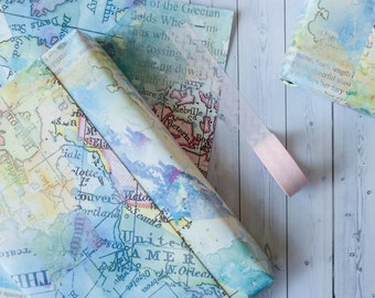 Map design etsy wrapping paper sheets wrapping paper pack of five small wrapping paper sheets gift gumiabroncs Choice Image
