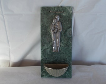 Vintage Small Religious Holy Water Holder