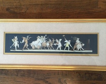 Hollywood regency putti and cherub print