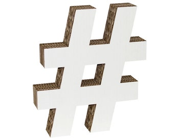 Cardboard Hashtag White