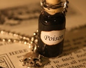 ON SALE Poison Vial Necklace - Halloween Jewelry - Shakespeare