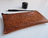 Corinthians 13 Leather pencil case, Christian Wedding Reading, Valentine gift,  Leather pen case, wedding reading, leather anniversary