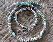 Stunning combination of 'Wild Horse' and 'Number 8 Turquoise'  beads with matching bracelet.