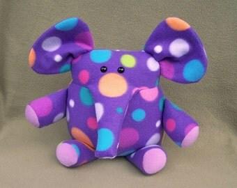 Purple Dot  Elephant Handmade Soft Toy