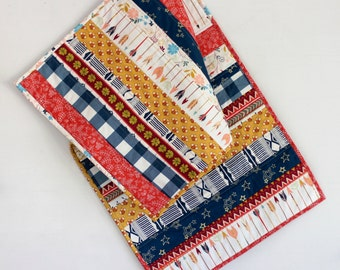 Modern Folk Quilted Table Runner