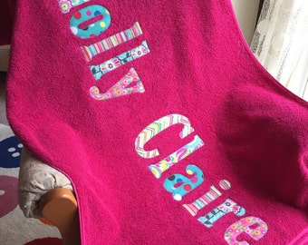 Personalized Towel First and Middle Name - pool - beach - camp - college - graduation - birthday - destination wedding -