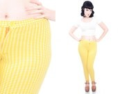 50s 60s Yellow Stirrup Pant Poly