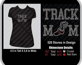Track Mom Rhinestone T-Shirt