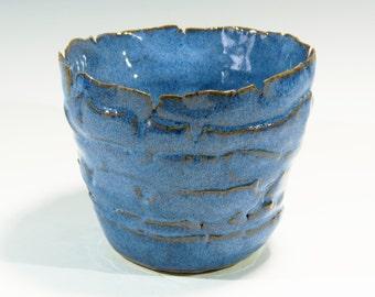 Ceramic Flat Coiled Flower Pot Hand Built Flatten Coil Flower Pot Rustic Stoneware Flower Pot. Handbuilt Ceramic Stoneware Pot