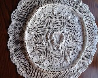 Large Circlular Handmade Doiley