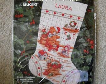Christmas Stocking Cross Stitch Kit Bucilla Gallery Of Stitches
