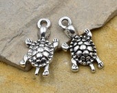 Turtle Charms, 18pcs, 19mm, Turtle Charms,  Silver Charms, Beach - C35