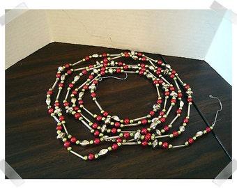 Beaded Metallic Garland/Holiday Decor/Craft Supplies*