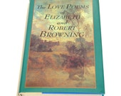 The Love Poems Of Elizabeth And Robert Browning, Vintage Book