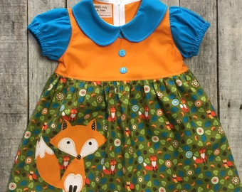 Autumn the Fox toddler dress