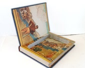 Hollow Book Safe The Wonderland of Knowledge Cloth Bound vintage Secret Compartment Security hiding place