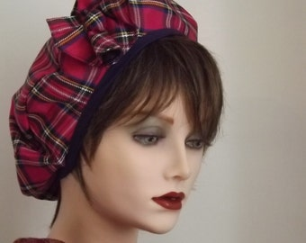 Scottish Pink Tartan Beret