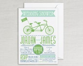 Couples Wedding Shower Invitation | Bicycle Shower Invitation | Bridal Shower Invitation | Bike Engagement Party Invite | Rehearsal Dinner