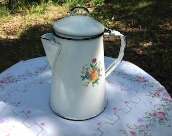 Vintage Enamelware Coffeepot