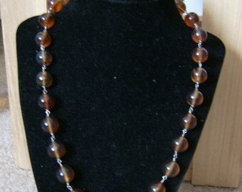 Indonesian Amber and Sterling Silver Necklace