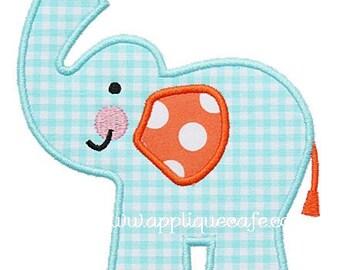 280 Elephant 3 Machine Embroidery Applique Design