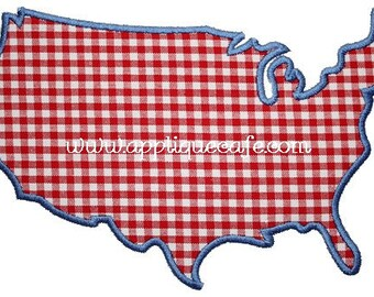 152 America Machine Embroidery Applique Design