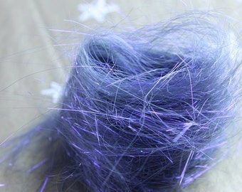 Ultraviolet Angelina fiber for spinning and felting
